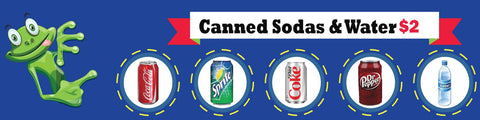 Canned Sodas & Water