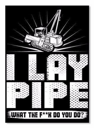 I Lay Pipe Sideboom Sticker