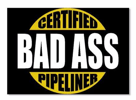 Certified BA Pipeliner Sticker