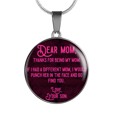 Thanks for being a Pipeliner's Mom 18K Gold/Silver Necklace!