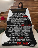 As I Come to You My Lord - Pipeliner Wife Prayer Sherpa Fleece Blanket