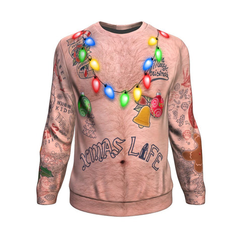 Hairy Topless XMAS PRINTED Sweatshirt