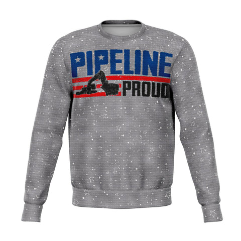 Pipeline Proud Christmas Ugly Knitted Print Sweatshirt!