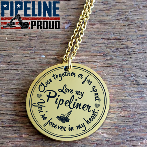 Love My Pipeliner 18K Gold Plated/Stainless Steel Necklace