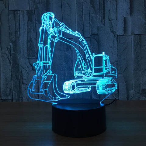 EXCAVATOR 3D Lamp with 7 Changeable Colors [FREE SHIPPING]