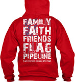 Family Faith Friends Flag Pipeline Shirt! - Pipeline Proud - 21