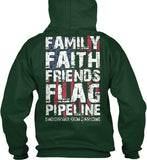 Family Faith Friends Flag Pipeline Shirt! - Pipeline Proud - 23