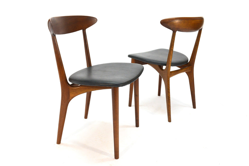 Set of four Kurt Ostervig Walnut Dining Chairs