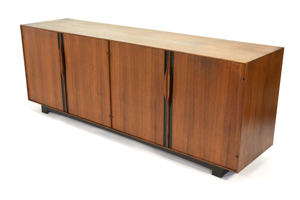Large Walnut Credenza by John Kapel for Glenn of California