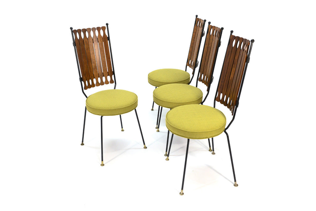 Iron and Maple Dining Set by Arthur Umanoff