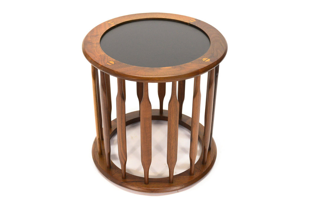 Small Walnut Spindle Side Table