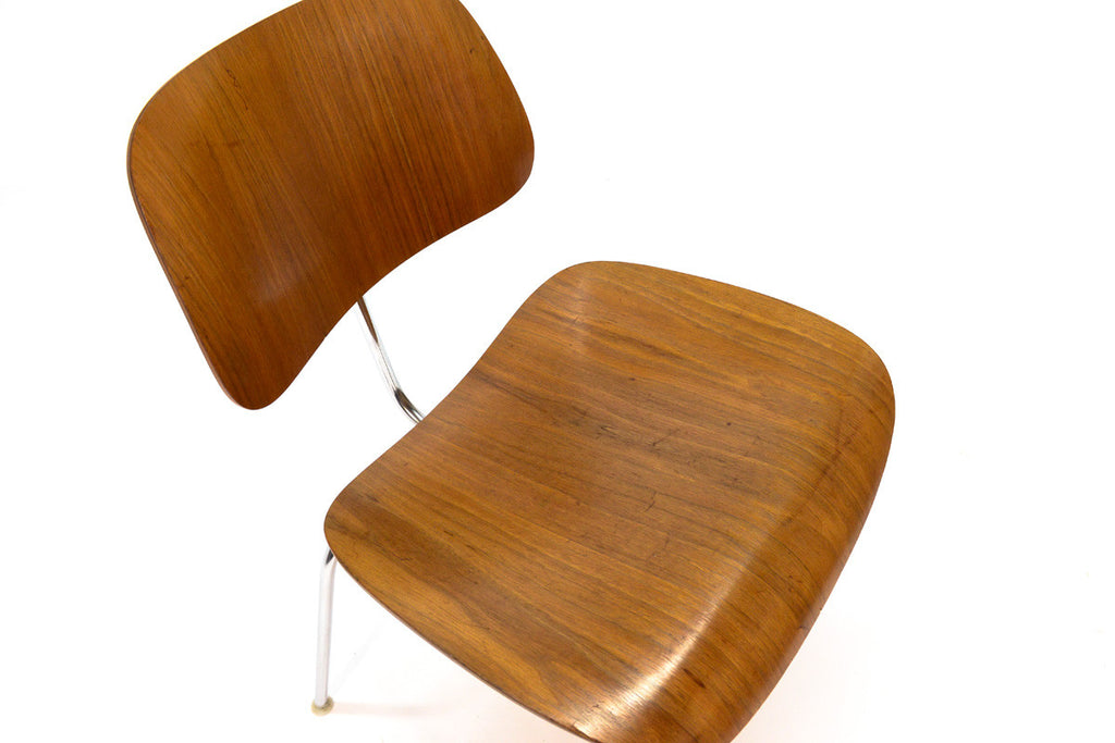 Single Eames DCM in Walnut