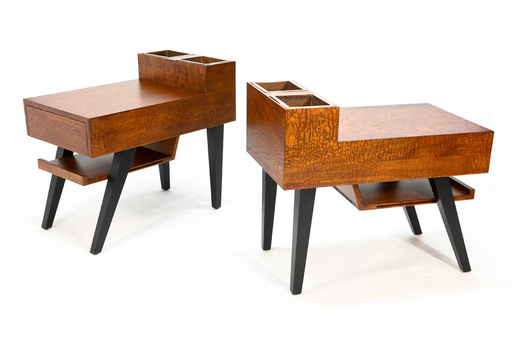 Pair of Modernist Side tables with Planters