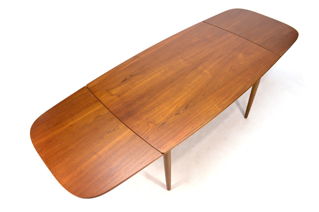 Teak Draw Leaf Dining Table by Kurt Ostervig