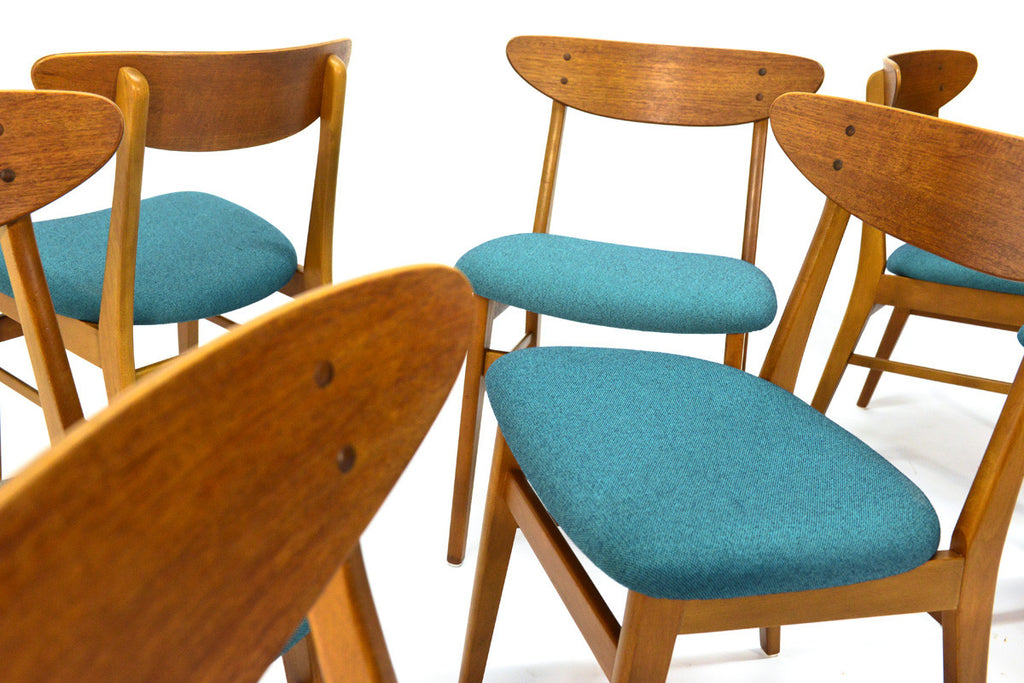 Set of Eight Farstrup Teak Dining Chairs