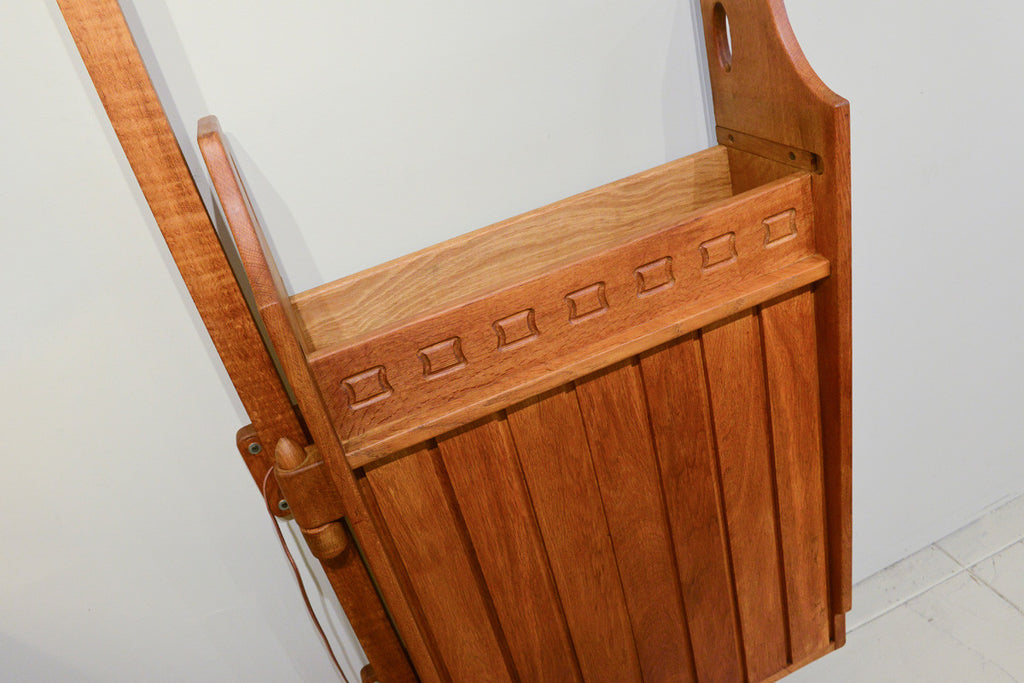 French Oak Hanging Bar Cabinet by Guillerme et Chambon