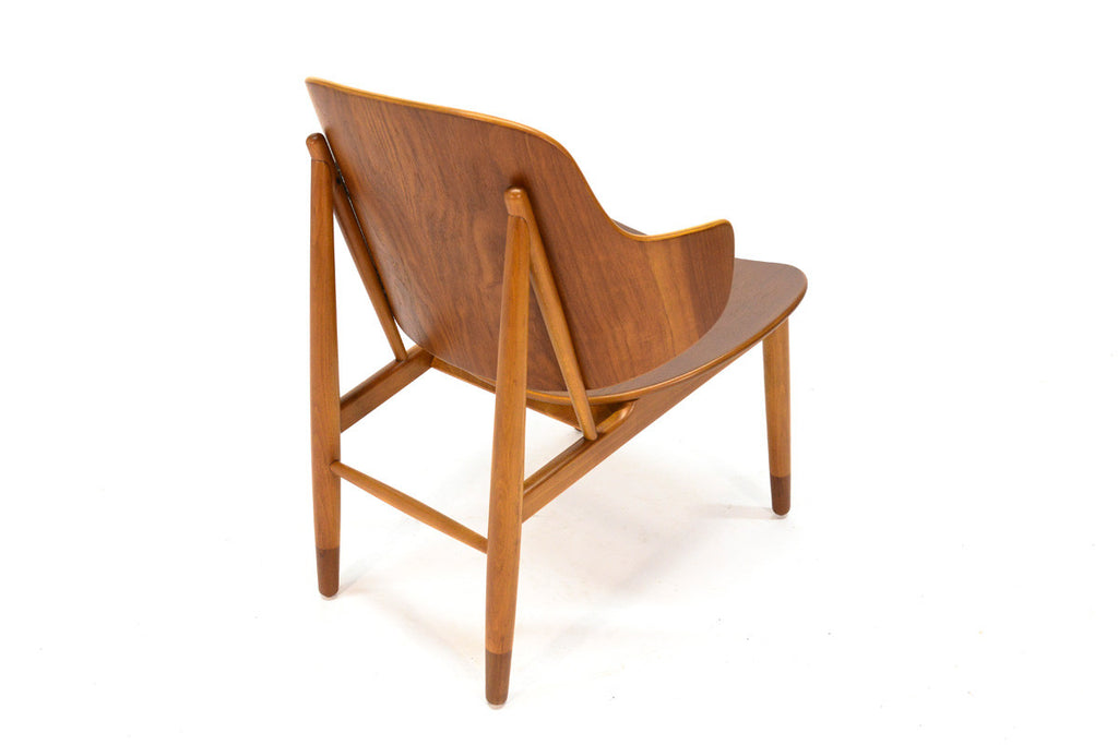 Pair of Teak Shell Lounge Chairs by Kofod Larsen