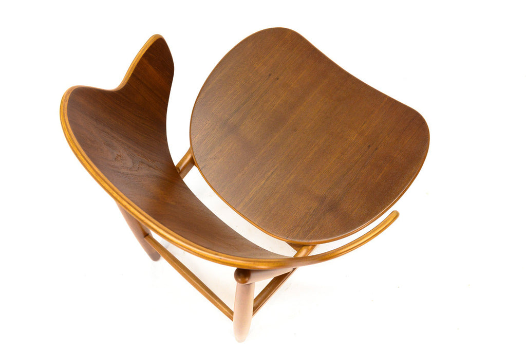 Teak Shell Lounge Chair by Kofod Larsen