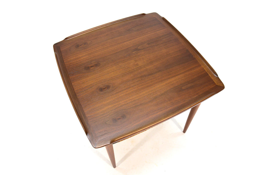 Square Walnut Side Table by Poul Jensen for Selig