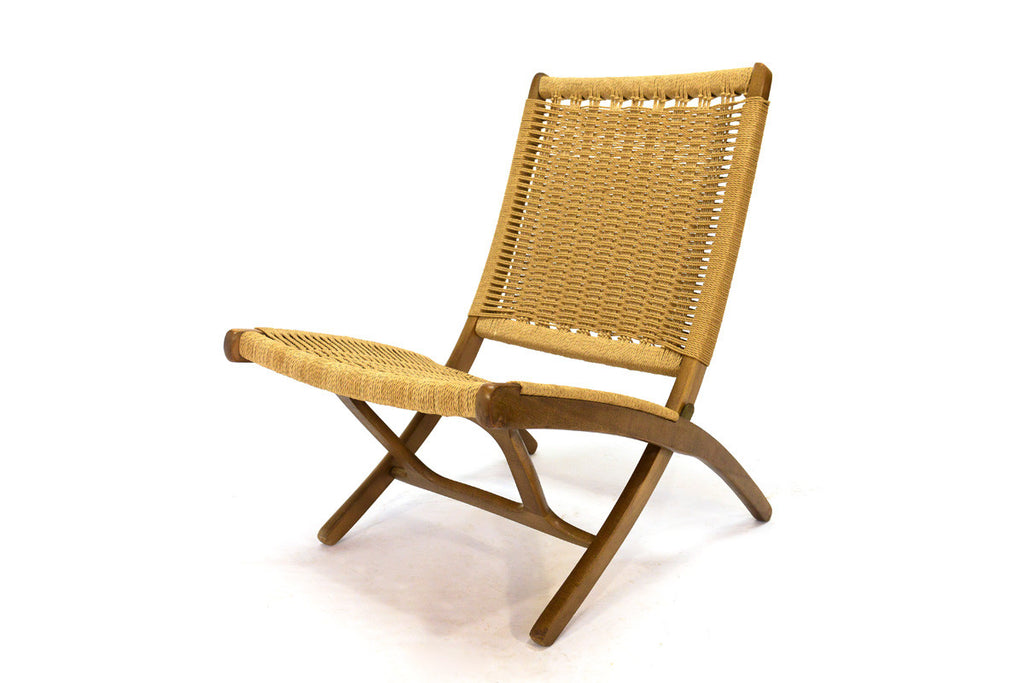 Hans Wegner Style Folding Lounge Chair