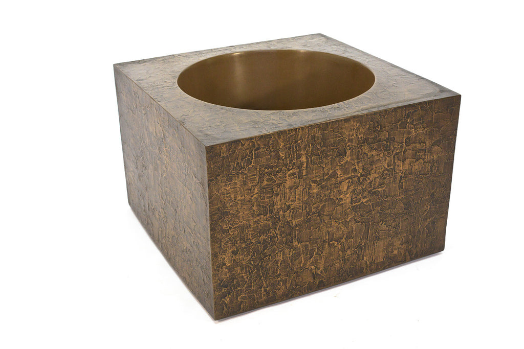 Square Brutalist Planter by Forms and Surfaces