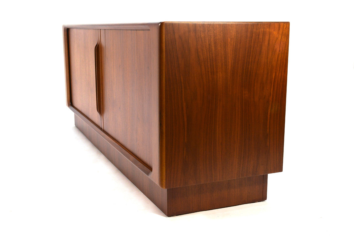 Danish Floating Credenza : Danish walnut tambour door credenza arroyo artifacts