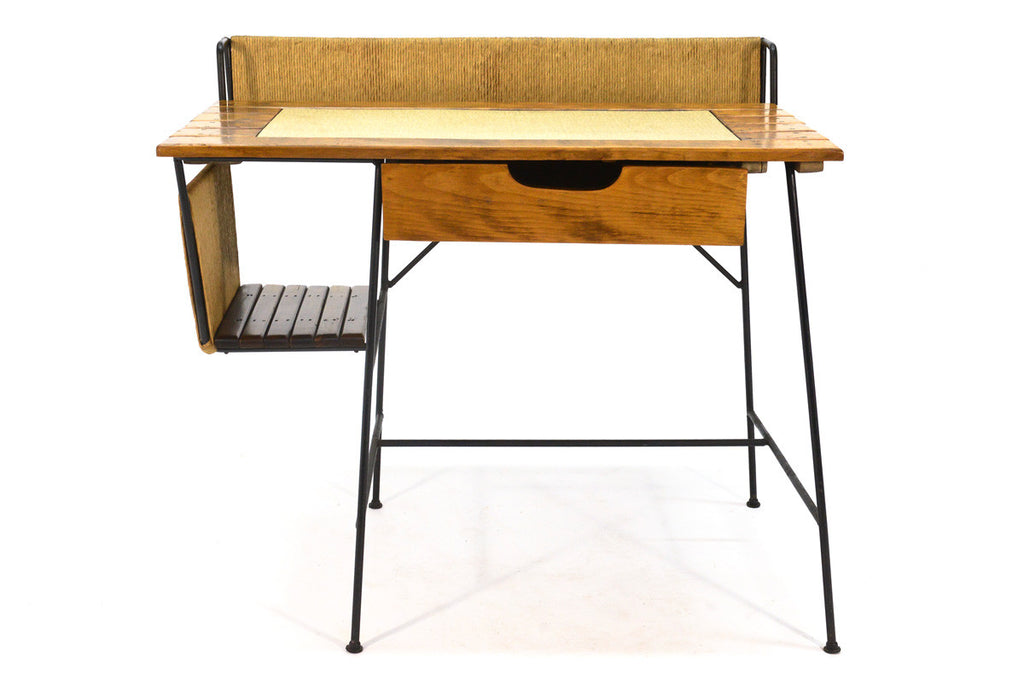 Iron and Wood Desk by Arthur Umanoff
