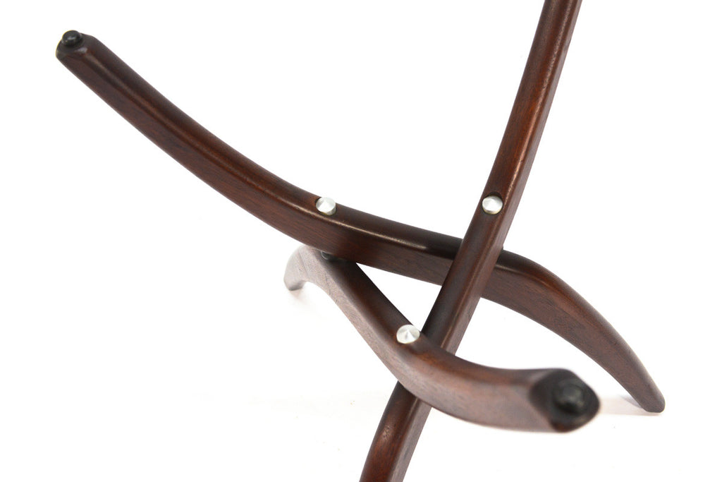 Sculptural Walnut Side Table by Forest Wilson