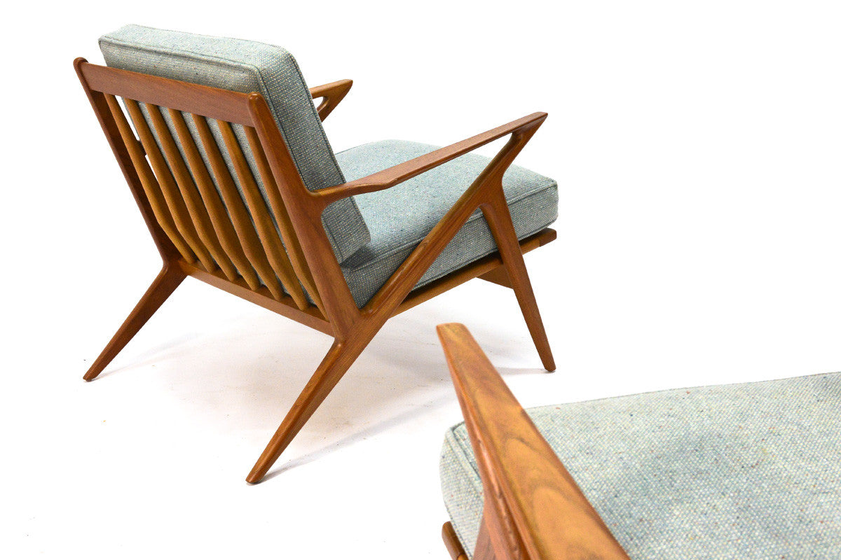 ... Pair Of Teak U0027Zu0027 Lounge Chairs By Poul Jensen For Selig ...