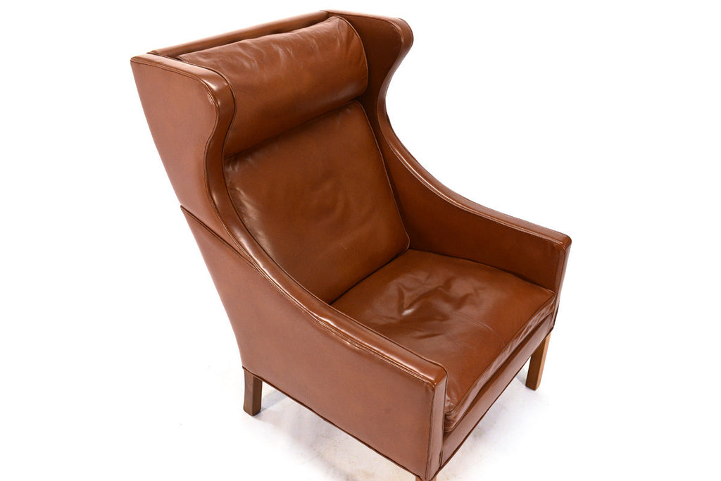 Leather Wingback by Børge Mogensen