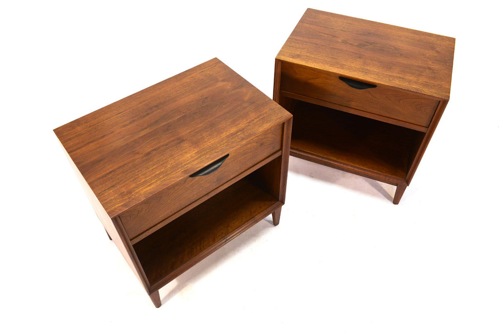 Pair of Walnut Nightstands by Dillingham
