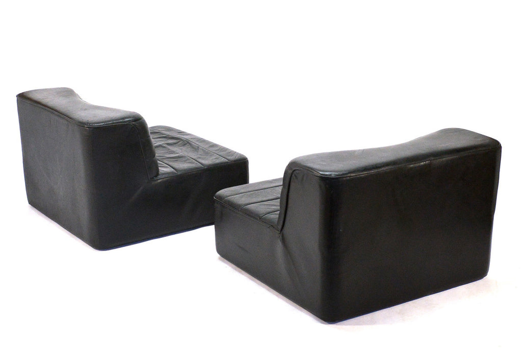 Four Piece Modular Leather Seating Group