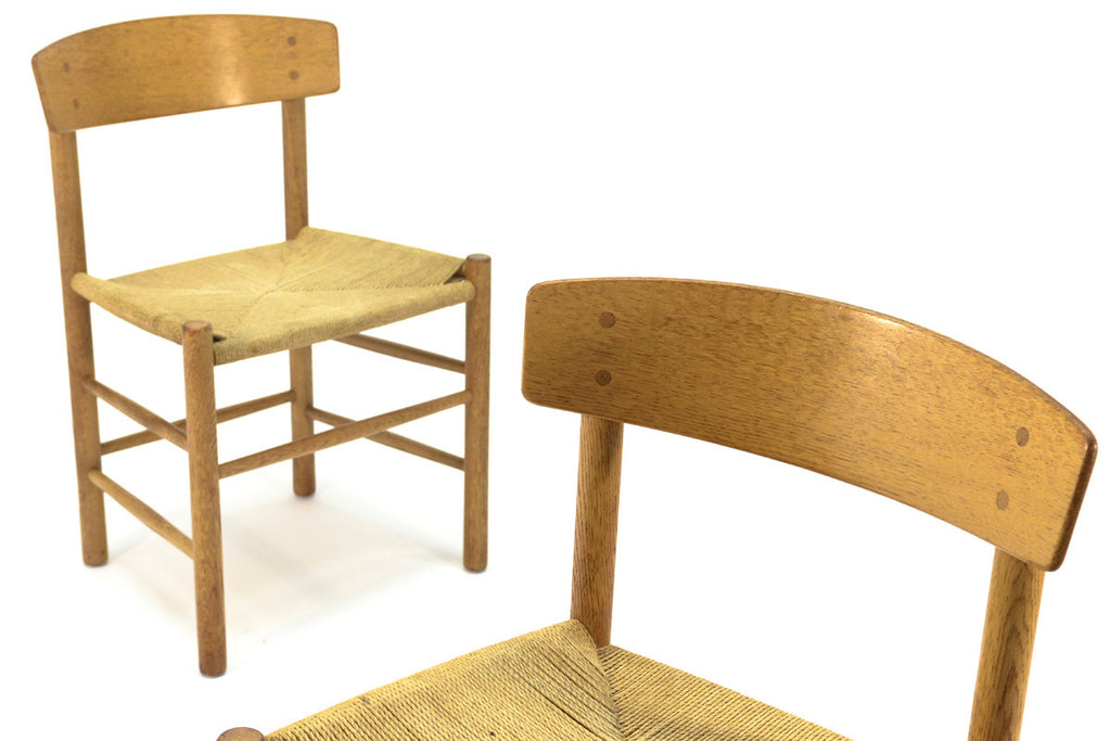 Set of Six Borge Mogensen J39 Dining Chairs