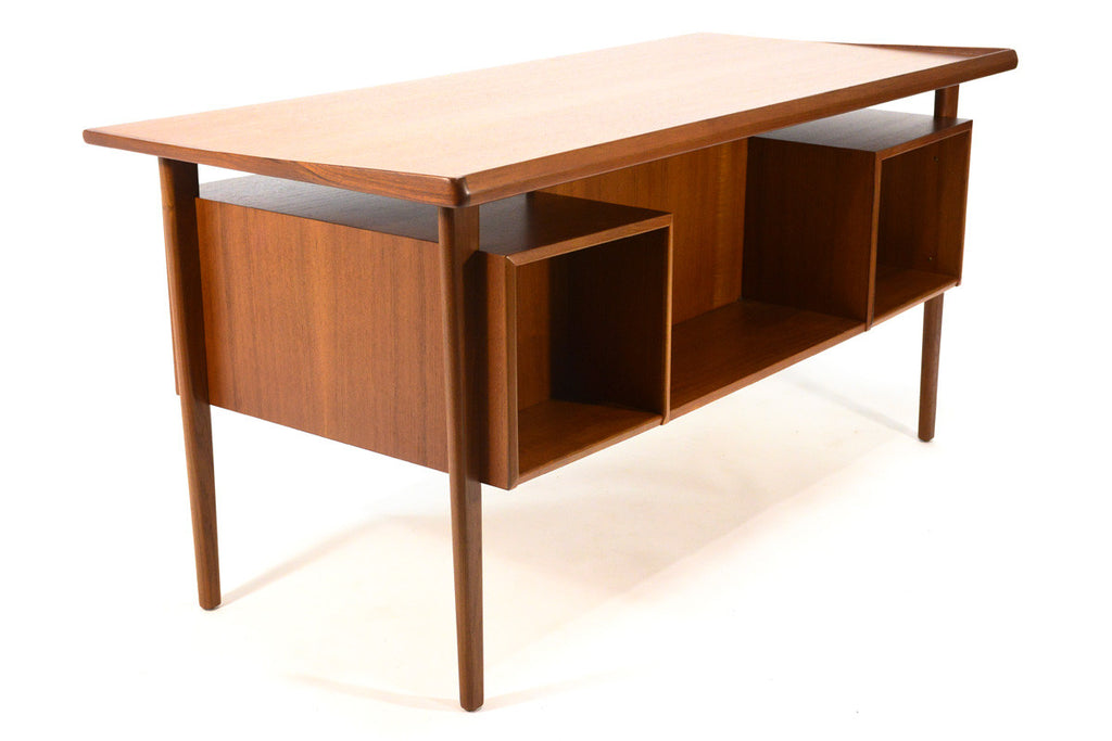 Floating Top Teak Desk by Peter Lovig Nielsen