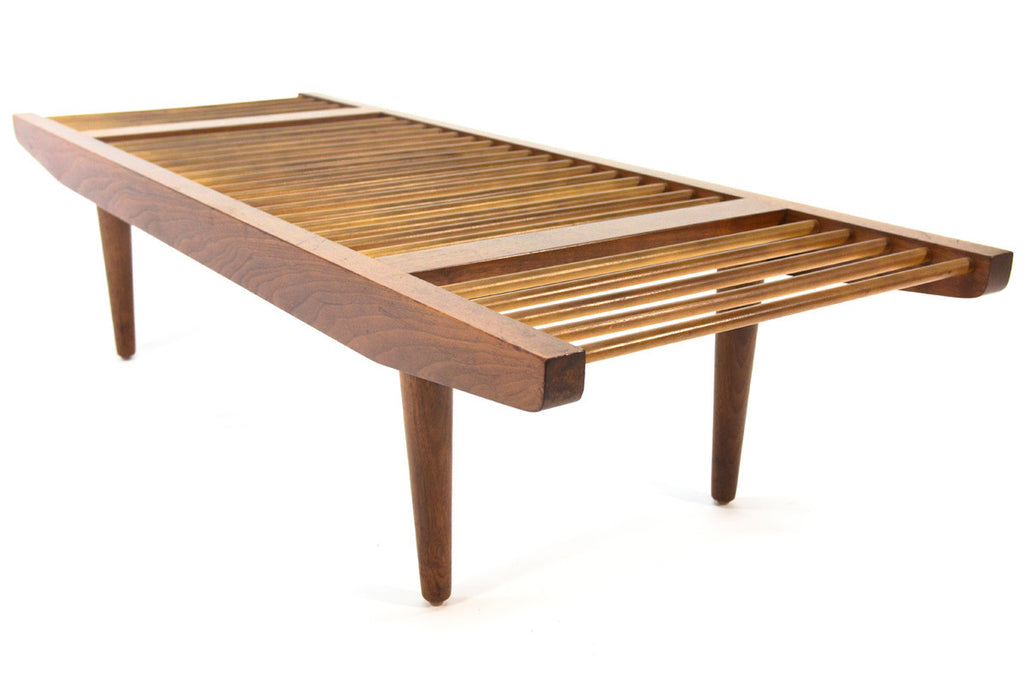 Walnut Dowel Bench by Milo Baughman for Glenn of California