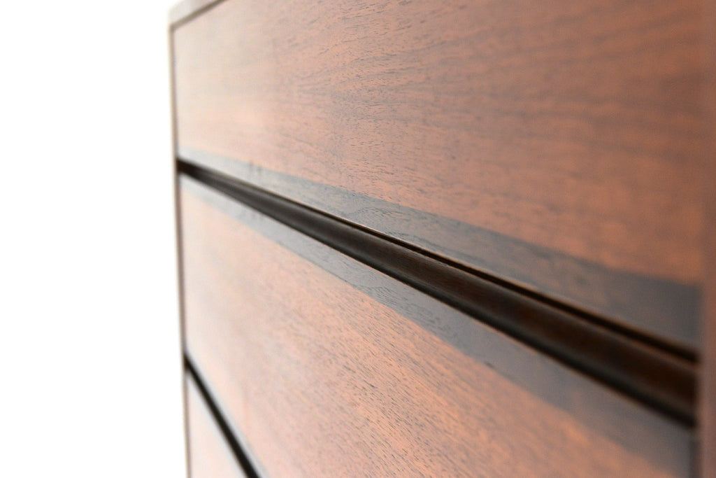 Small Walnut and Rosewood Dresser by Kipp Stewart for Calvin