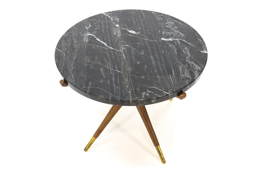 Sculptural Italian Marble Side Table