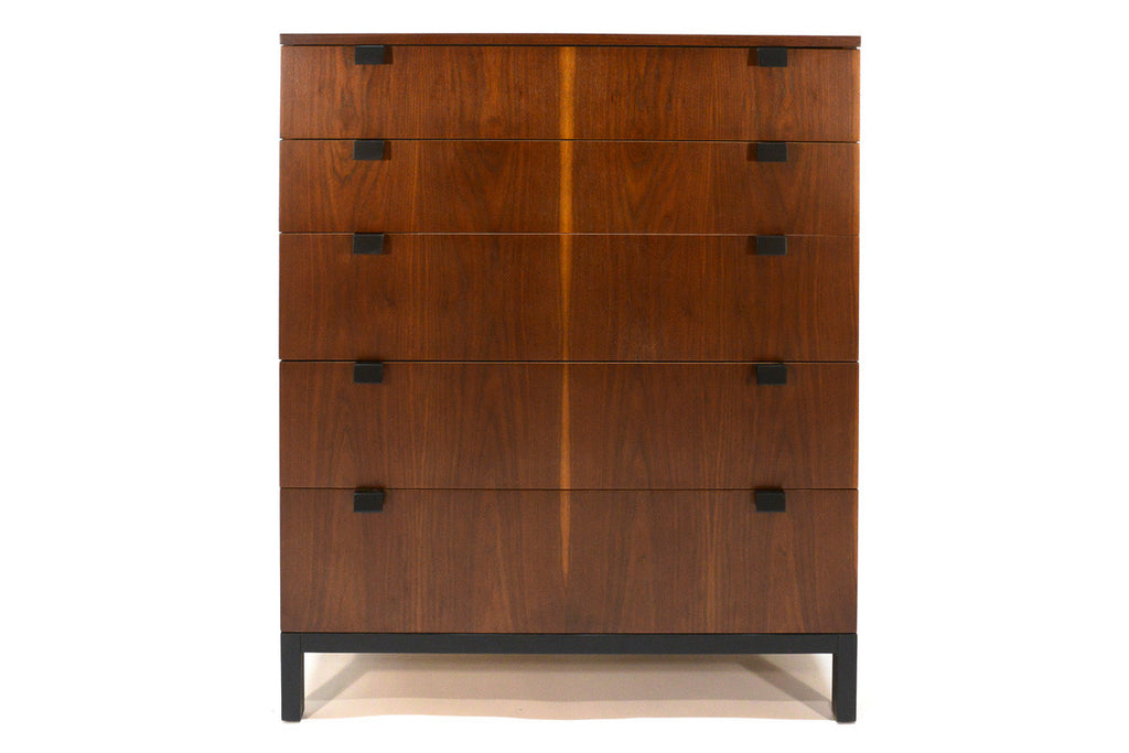 Pair of Tall Walnut Dressers by Kipp Stewart for Directional