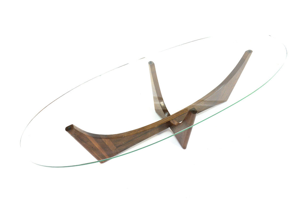 Sculptural Walnut Coffee Table by Adrian Pearsall
