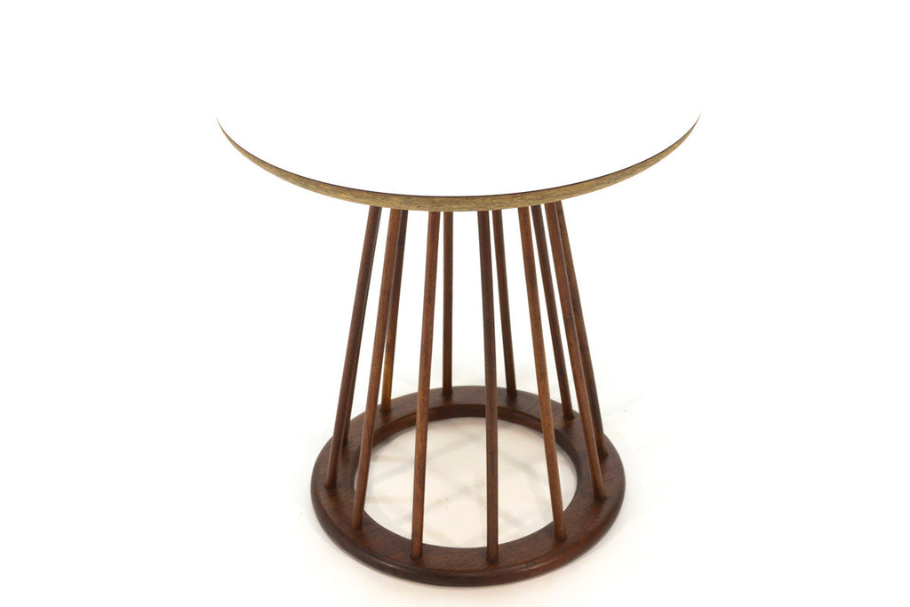 Walnut Spindle Table by Arthur Umanoff