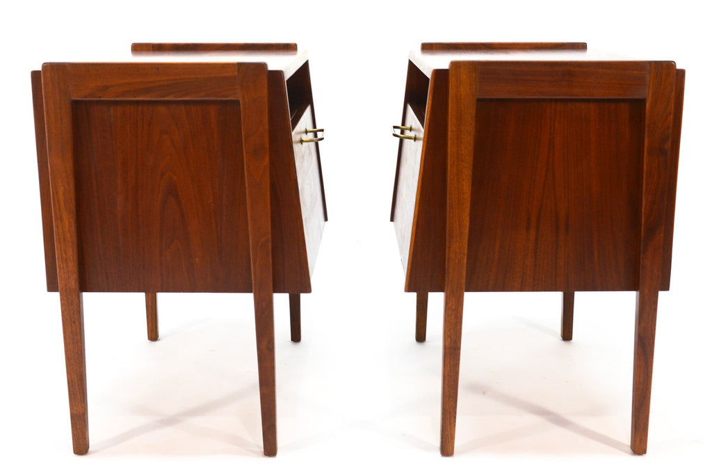Pair Side Tables or Nightstands by Jens Risom
