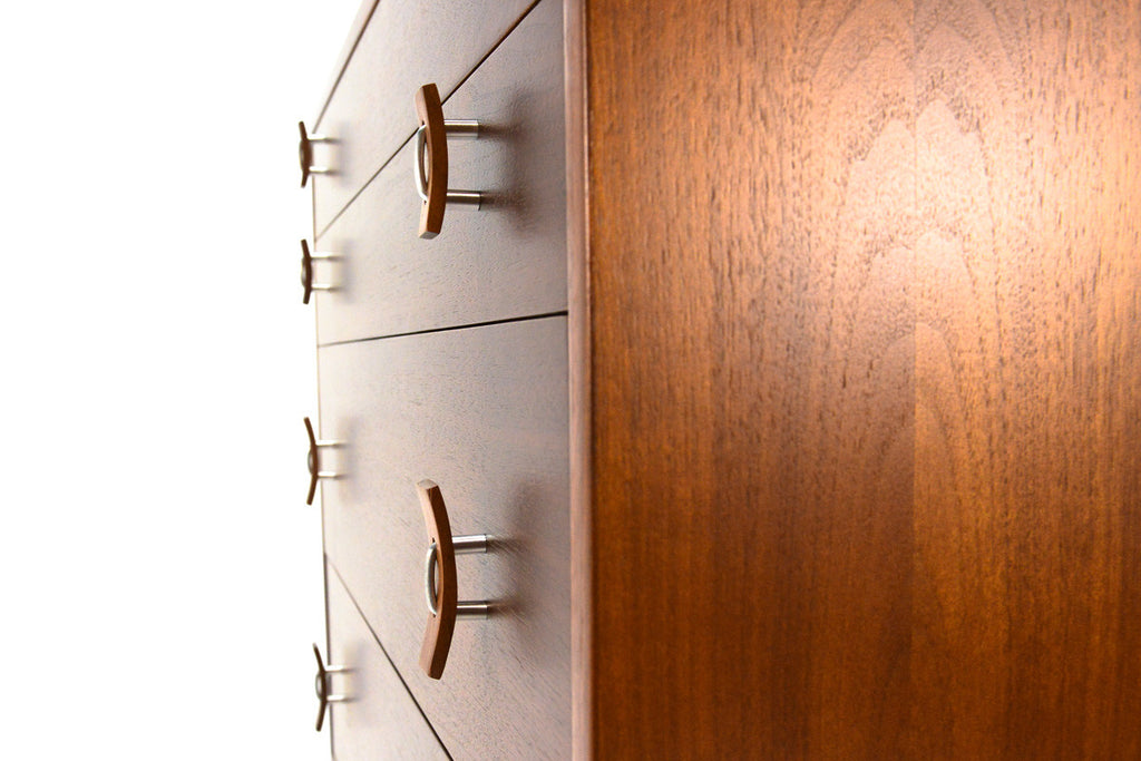 Five Drawer Walnut Dresser by Stanley Young for Glenn of California