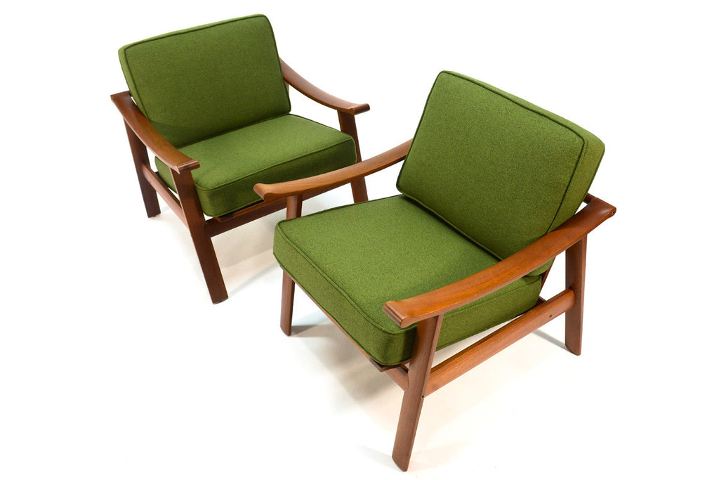Pair of Teak Lounge Chairs by William Watting