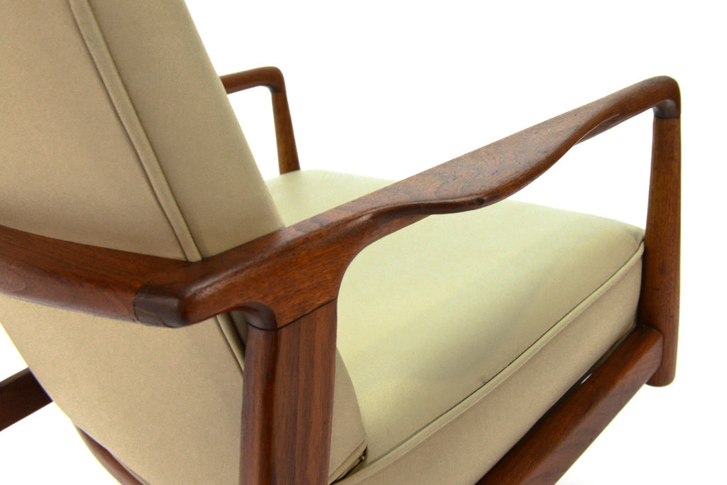 Sculptural Walnut Executive Office Chair by Stow Davis