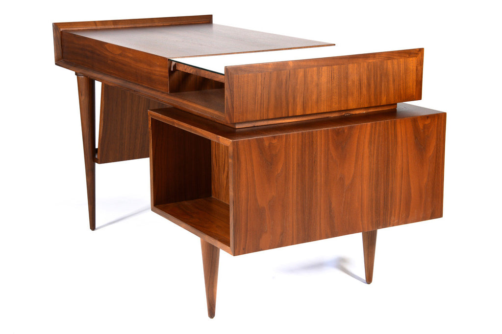 Walnut Floating Desk by Sherman Bertram