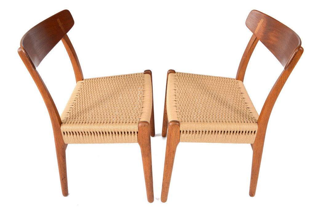 Set of Six Hans Wegner CH-23 Dining Chairs