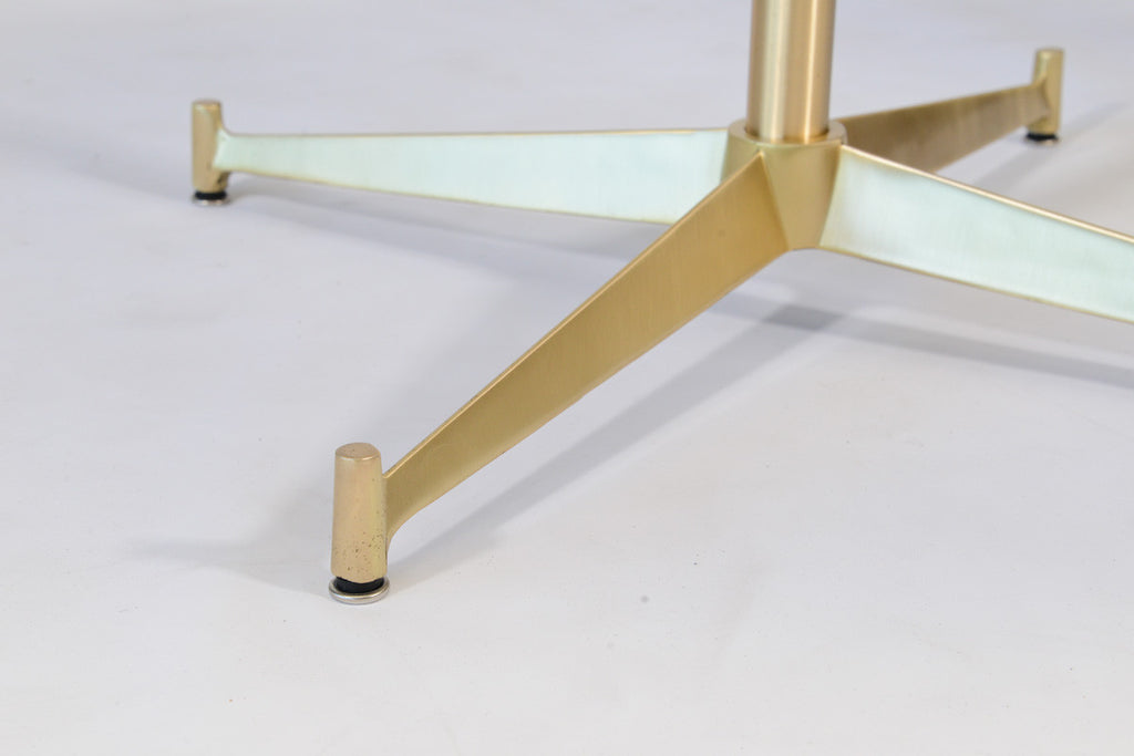 Rare Brass and Vitrolite Occasional Table by Paul McCobb for Directional