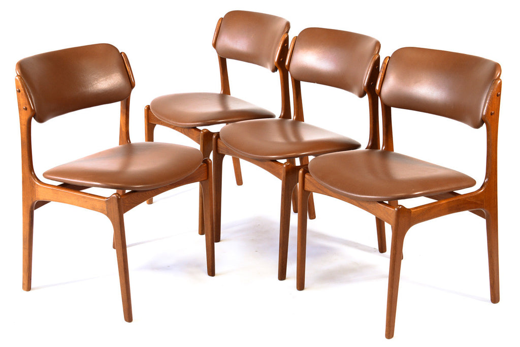 Set of Four Erik Buch Model 49 Dining Chairs