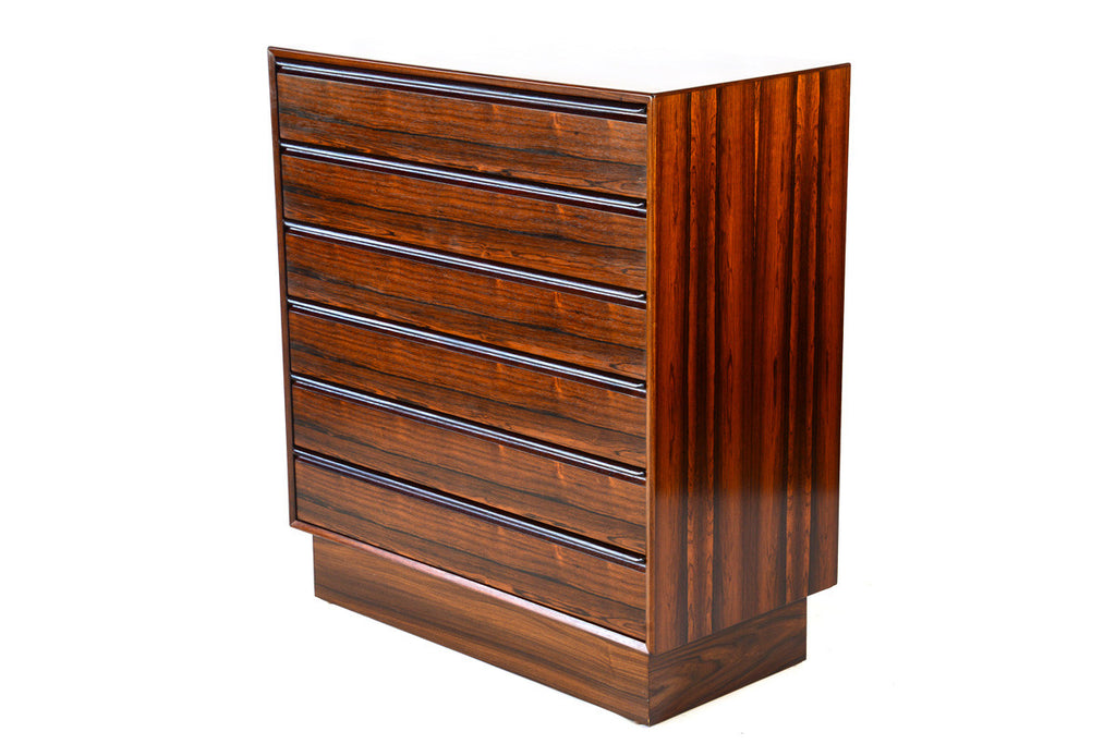 Six Drawer Rosewood Tallboy Dresser by Westnofa