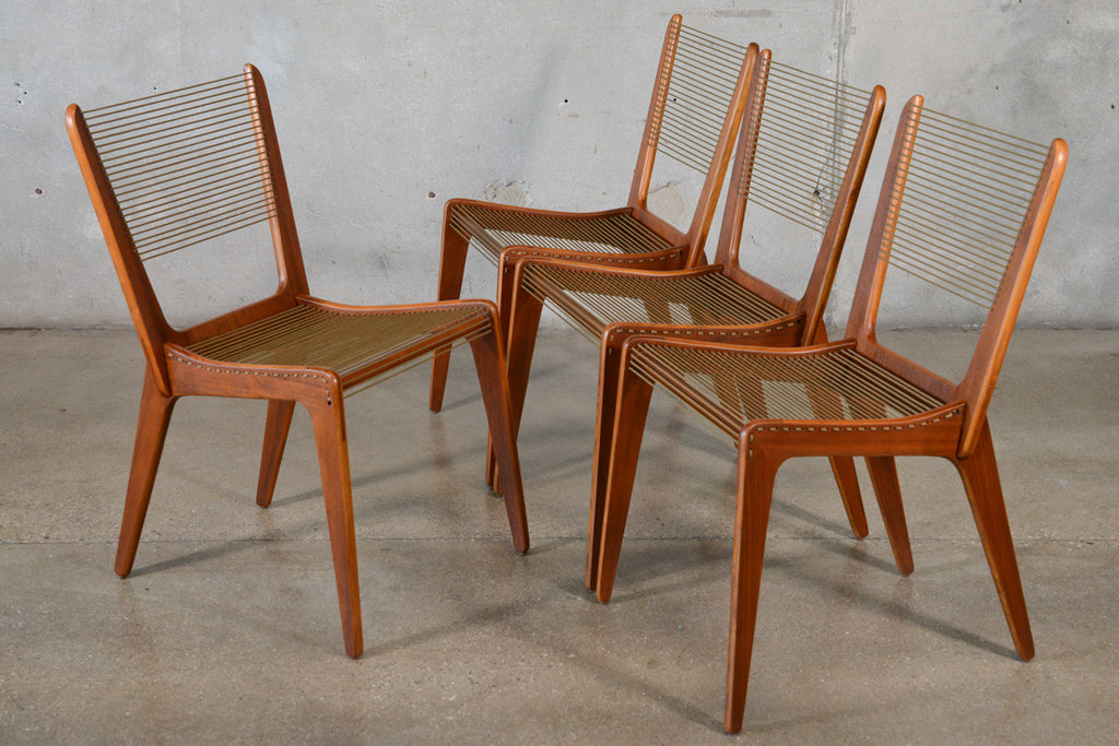 Set of Four Jacques Guillon String Chairs